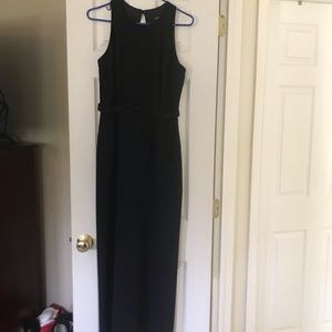 Black gown with front bow and open back